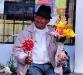 Een bloemenverkoper